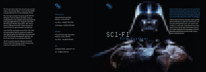 Sci Fi Layouts : Bfi brochure poster sophie lin graphic design